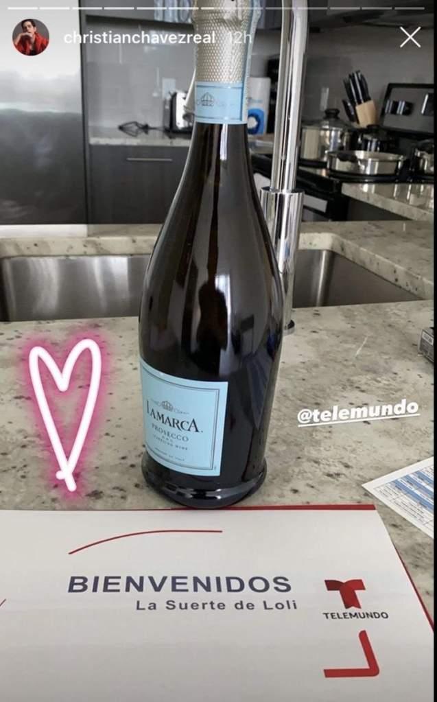 Christian Chávez publicación en Instagram