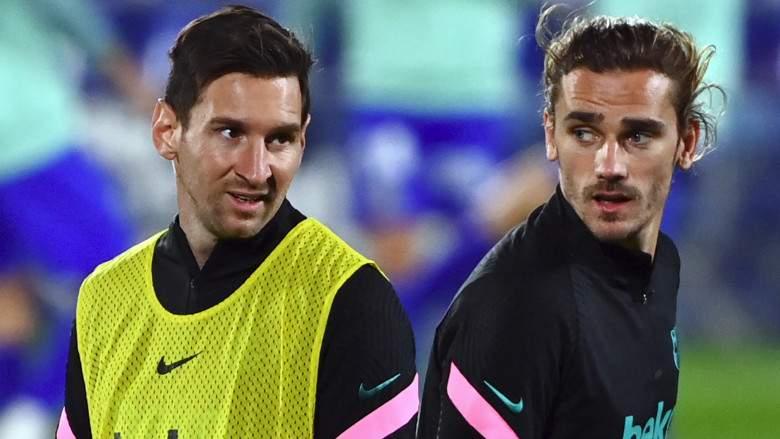 Antoine Griezmann y Lionel Messi - FC Barcelona.