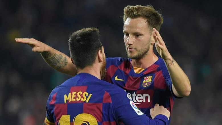 Leo Messi e Ivan Rakitic - FC Barcelona
