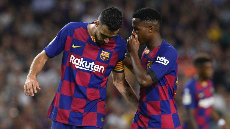 Sergio Busquets y Ansu Fati - FC Barcelona