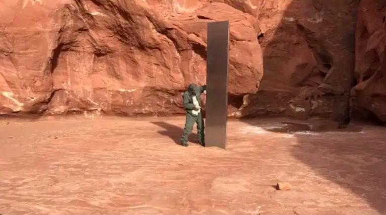 La estructura que apareció en Utah.
