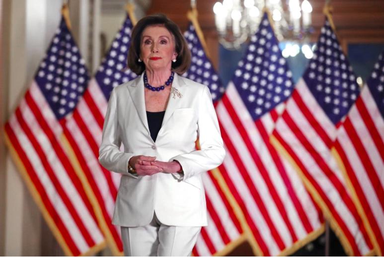 La presidenta de la Cámara de Representantes, Nancy Pelosi.
