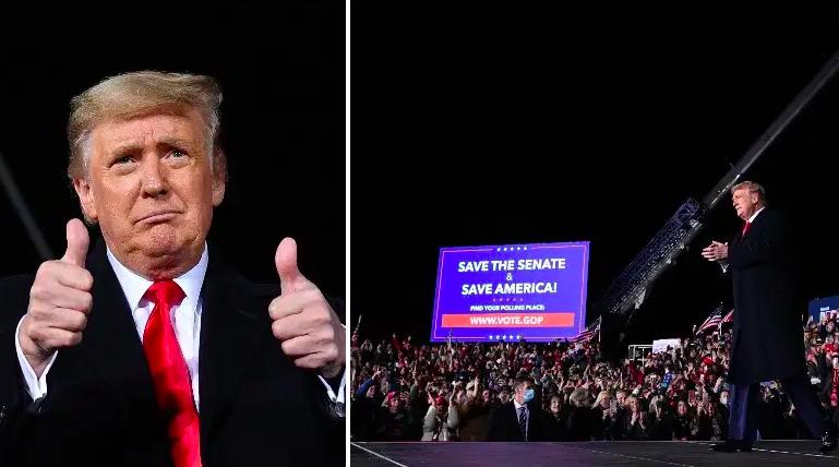 ¿Cuántas personas asistieron al mitin de Trump en Georgia?