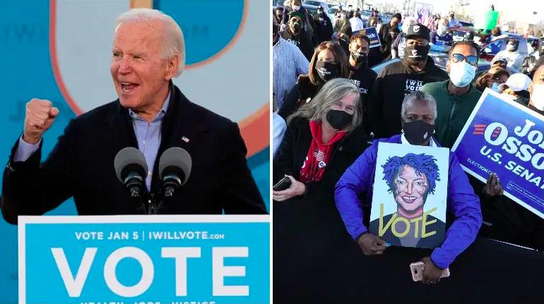 ¿Cuántas personas asistieron al mitin de Biden en Georgia?