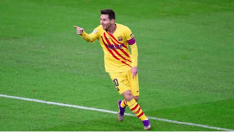Lionel Messi celebrando su gol ante el Athletic