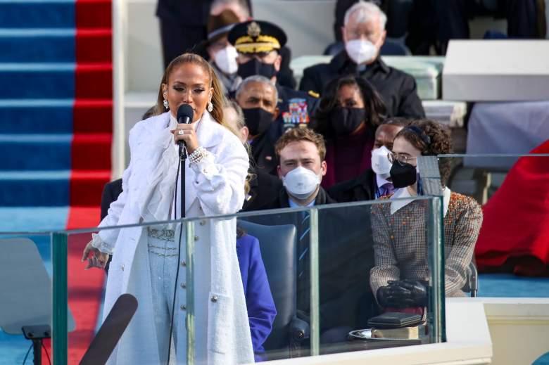 Presentación de Jennifer López en la posesión de Biden video