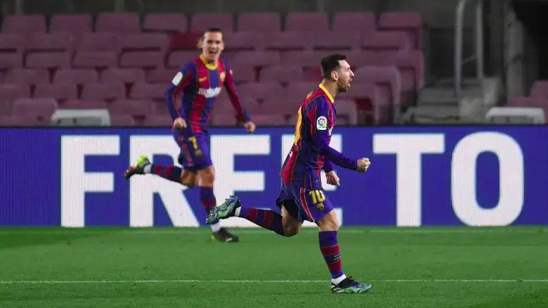 Lionel Messi celebrando su gol