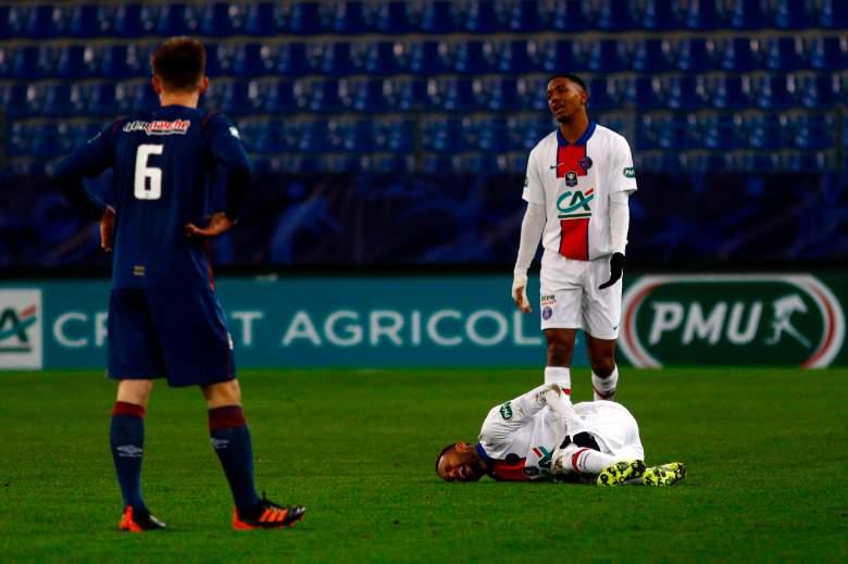 Neymar sufre lesión en partido del PSG contra el Caen: ¿Se perderá juego con el Barcelona?
