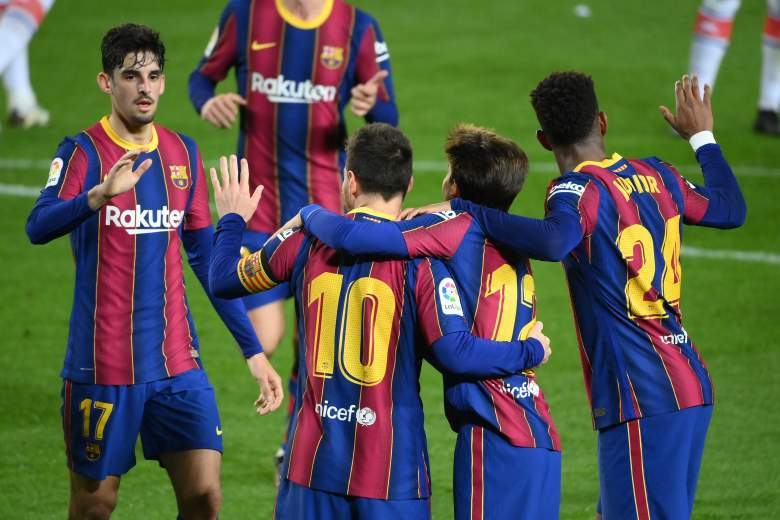 El festejo del FC Barcelona.