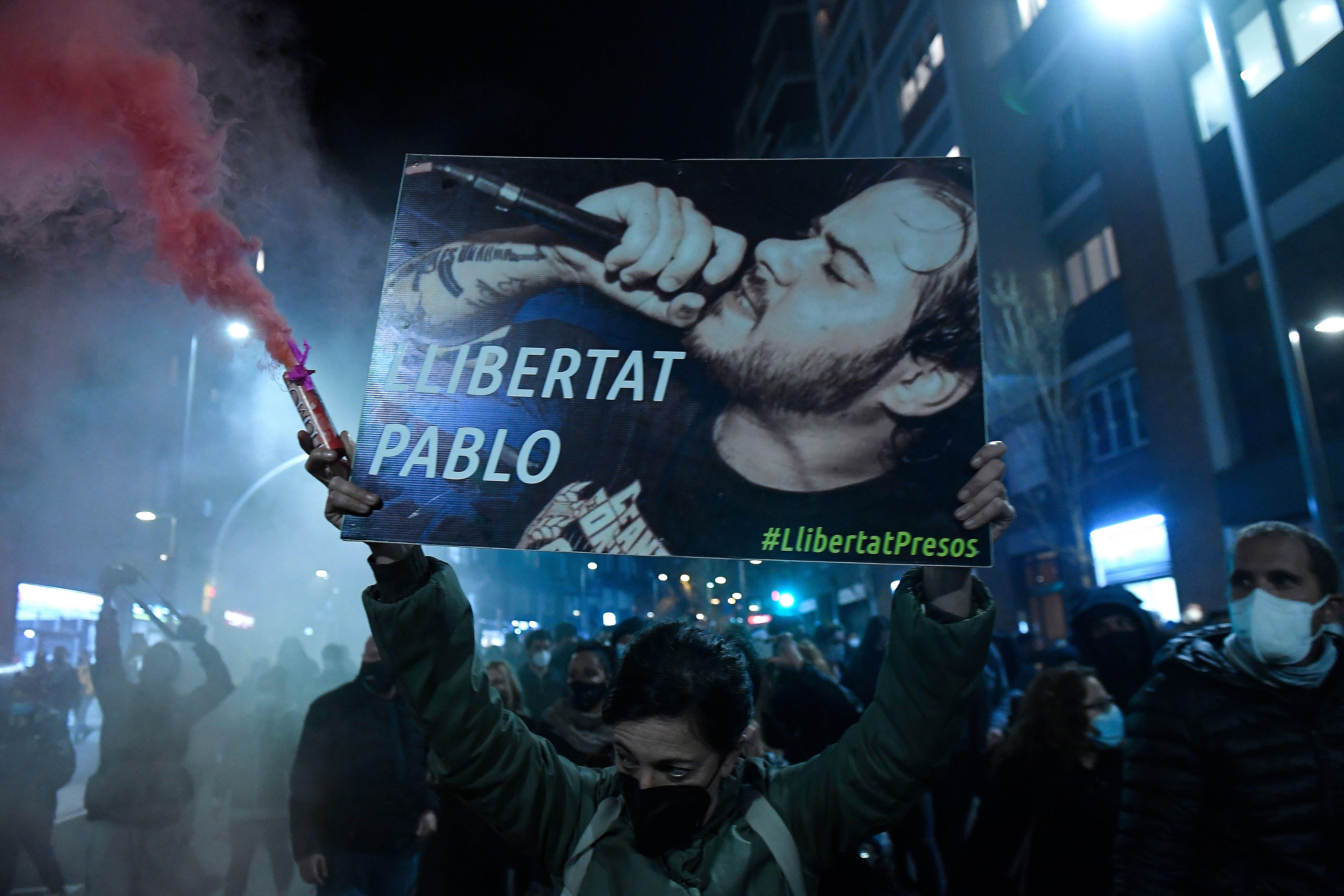 Protestas en España por la detención de Pablo Hasél