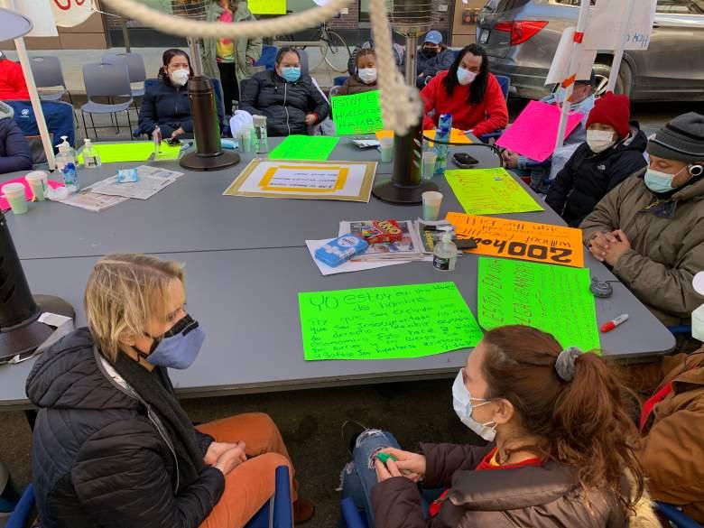 Cynthia Nixon en huelga de hambre de inmigrantes en Nueva York