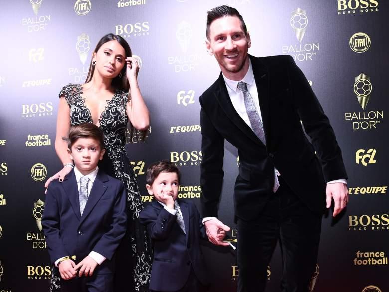 Esposa de Messi comparte tierna foto de Messi con sus hijos