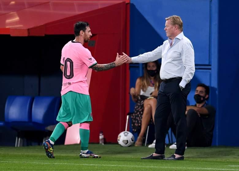 Lionel Messi y Ronald Koeman