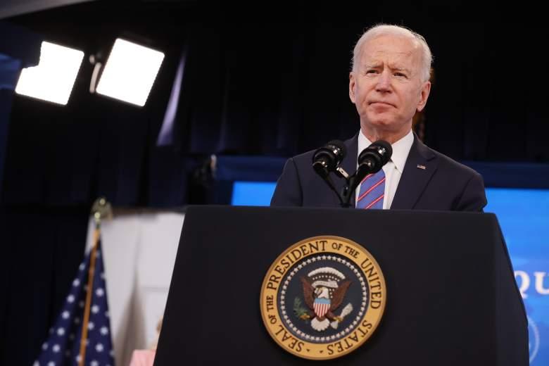 El presidente de los Estados Unidos, Joe Biden, pronuncia un discurso durante un evento del Día de la Igualdad de Paga en el Auditorio de South Court en el Edificio de la Oficina Ejecutiva de Eisenhower el 24 de marzo de 2021 en Washington, DC.