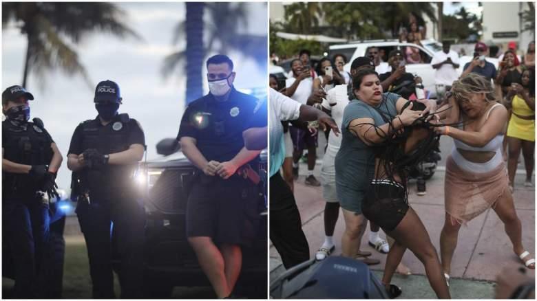 """Videos de turistas salvajes en Miami Beach durante el """"spring break"""""""