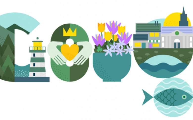 Google celebra el Día de San Patricio con un Google Doodle
