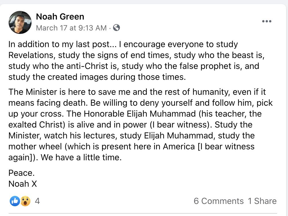 Por qué Noah Green atacó el Capitolio?