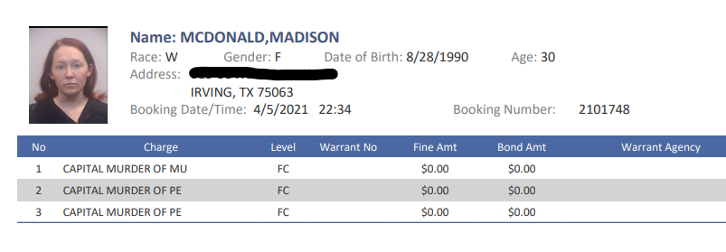 Madison McDonald confesó haber matado a sus 2 hijas