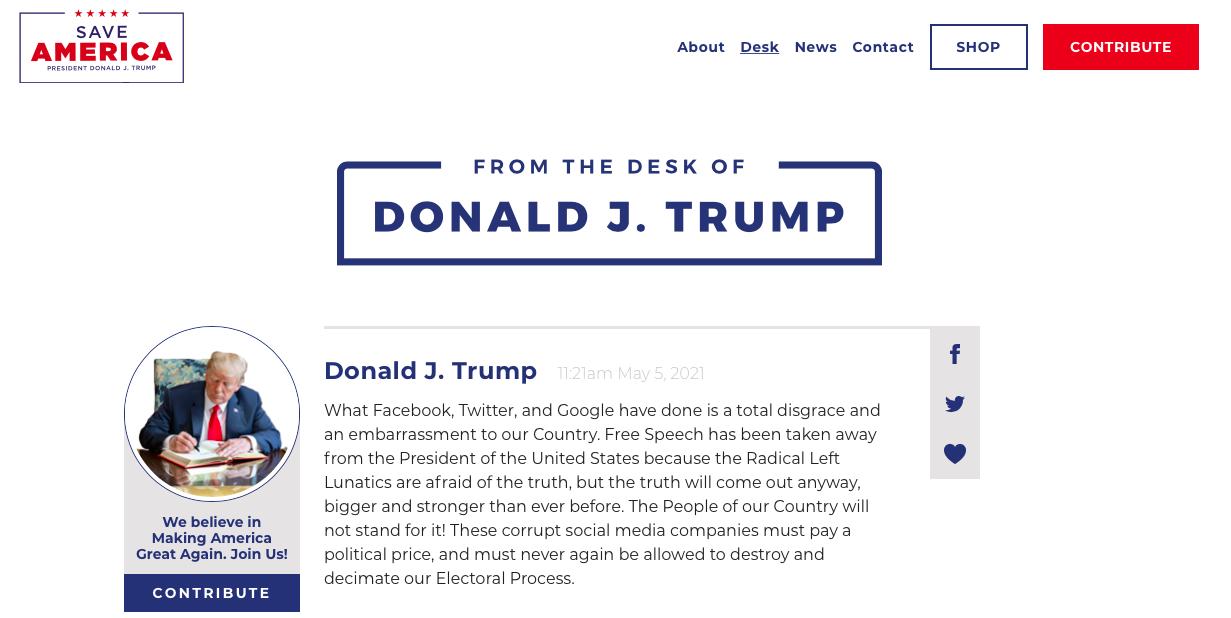 Website Donald Trump