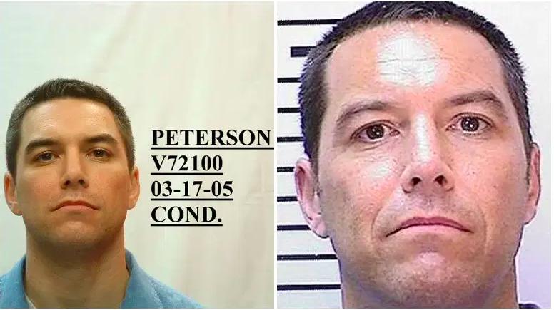Scott Peterson en 2005./Scott Peterson en 2018.