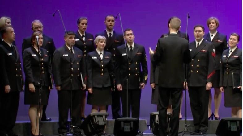 Les chanteurs de marine de l'US Navy Band