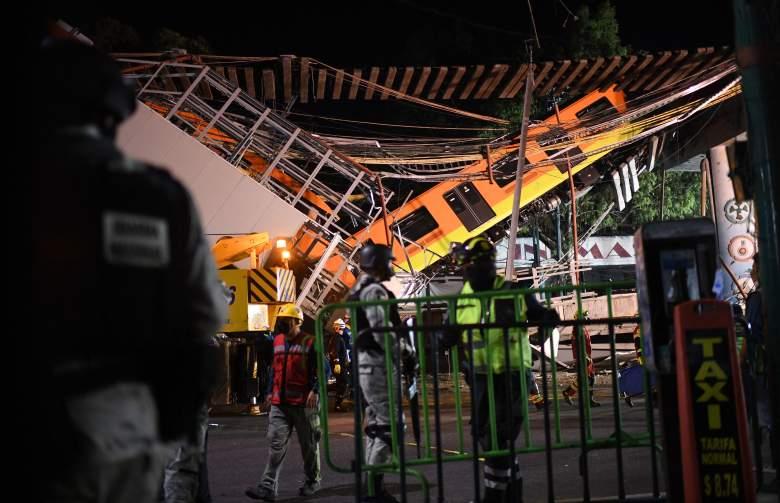 Tren se desplomo en Ciudad de México: videos