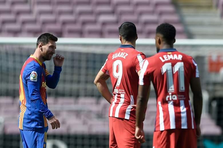 El tierno gesto de Messi con Luis Suárez en partido Atlético Madrid vs Barcelona