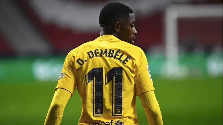 El delantero del Barcelona Ousmane Dembélé