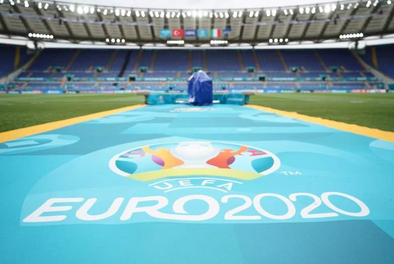 Una vista general durante una sesión de entrenamiento de Italia antes del partido del Grupo A de la UEFA Euro 2020 entre Italia y Turquía en el Estadio Olímpico el 10 de junio de 2021 en Roma, Italia.