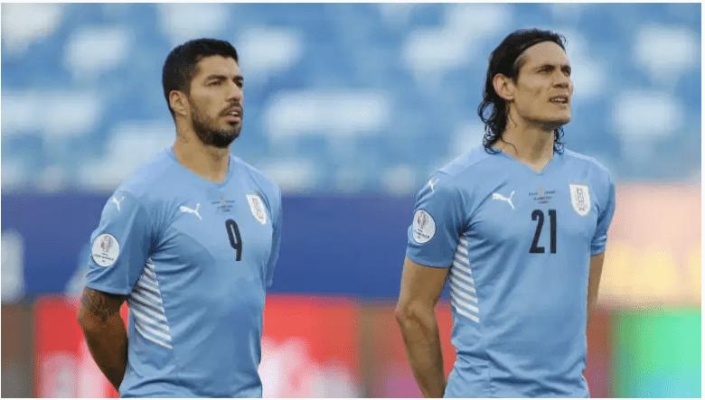 Luis Suarez y Edinson Cavani.