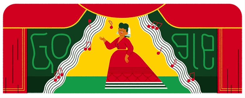 Google rinde homenaje a la cantante de ópera mexicana Ángela Peralta.