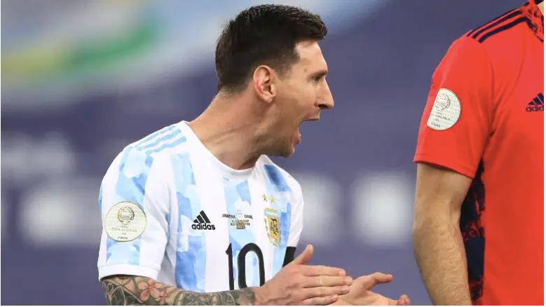 Lionel Messi durante la final de la Copa América