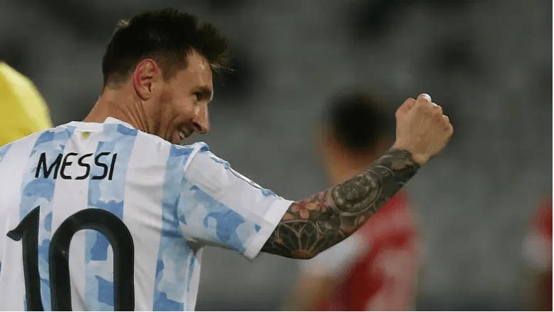 Lionel Messi celebra en la Copa América