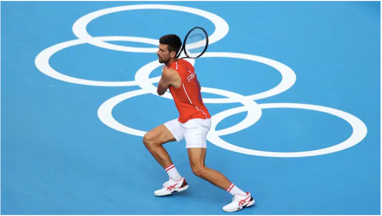 Novak Djokovic del equipo de Serbia