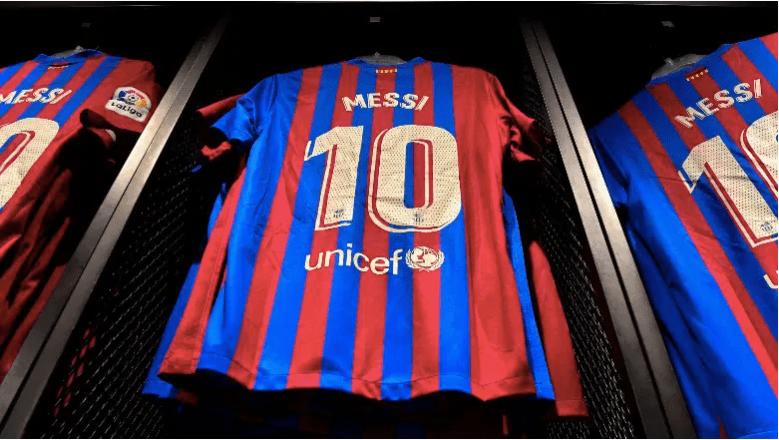 La camiseta del Barcelona de Lionel Messi