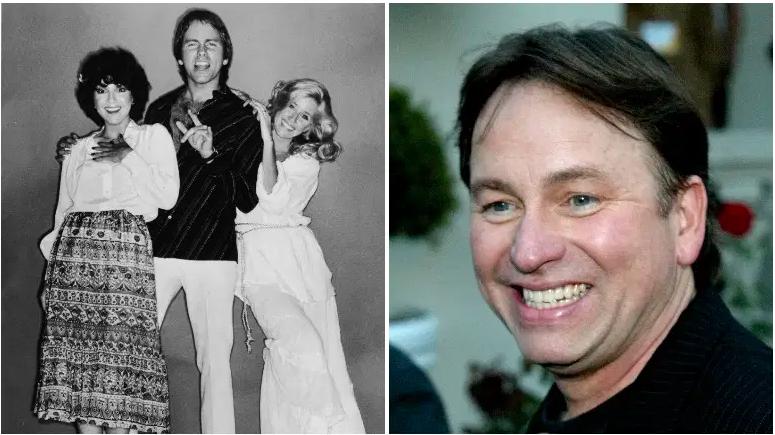 Los actores estadounidenses Joyce DeWitt, John Ritter (1948-2003) y Suzanne Somers en un retrato promocional de larga duración para la serie de televisión, 'Three's Company', 1979. / El actor John Ritter asiste a la ABC Press Tour Party el 18 de julio de 2002 en Pasadena , California.