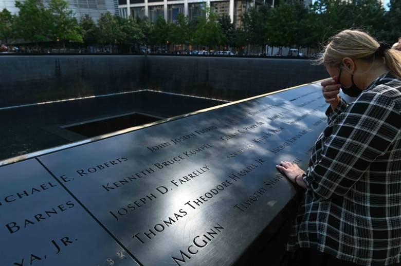 Memorial Nacional del 11 de septiembre en Nueva York el 10 de septiembre de 2021, un día antes de que Estados Unidos conmemore el día 20.