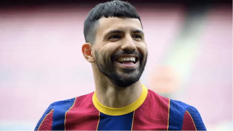 El atacante del Barcelona Sergio Agüero